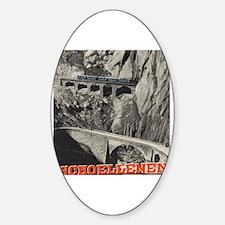 Cool Advertisement Sticker (Oval)