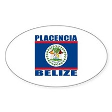 Placencia, Belize Oval Decal