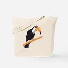 Realistic Toucan Design Tote Bag