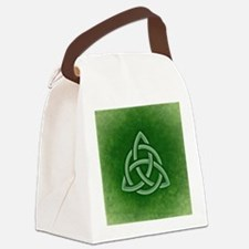 Triangular Celtic Knot Canvas Lunch Bag