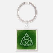 Triangular Celtic Knot Keychains