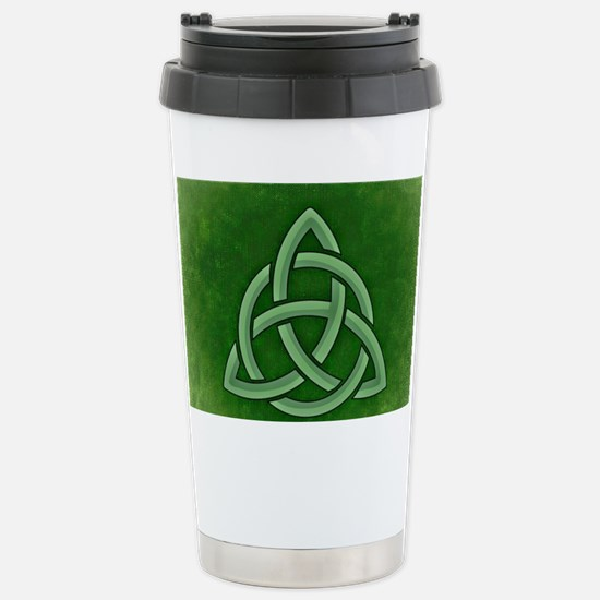 Triangular Celtic Knot Stainless Steel Travel Mug