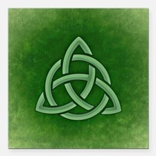 "Triangular Celtic Knot Square Car Magnet 3"" x 3"""