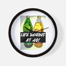 LIFE BEGINS AT 40! #3 Wall Clock