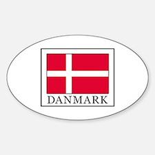 Cute Danish pride Sticker (Oval)