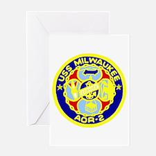 USS Milwaukee (AOR 2) Greeting Card