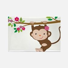 Cute Cute monkey Rectangle Magnet (10 pack)