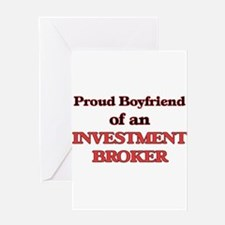 Proud Boyfriend of a Investment Bro Greeting Cards