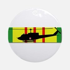 Vietnam - VCM - UH-1 Huey - Medieva Round Ornament