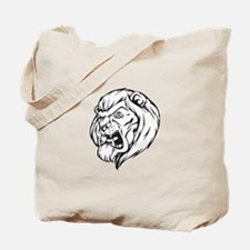 Lion Mascot (Black) Tote Bag