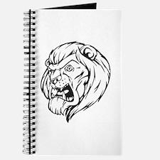 Lion Mascot (Black) Journal