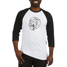 Lion Mascot (Black) Baseball Jersey