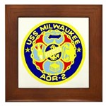 USS Milwaukee (AOR 2) Framed Tile