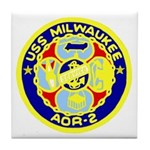 USS Milwaukee (AOR 2) Tile Coaster