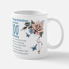 100th Birthday Gift Mug With Rose And Mugs