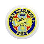 USS Milwaukee (AOR 2) Ornament (Round)