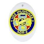 USS Milwaukee (AOR 2) Oval Ornament
