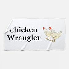 Chicken Wrangler Beach Towel