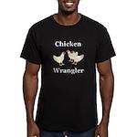 Chicken Wrangler Men's Fitted T-Shirt (dark)