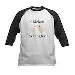 Chicken Wrangler Kids Baseball Jersey