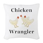 Chicken Wrangler Woven Throw Pillow