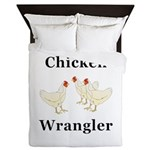 Chicken Wrangler Queen Duvet