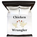 Chicken Wrangler King Duvet