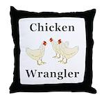 Chicken Wrangler Throw Pillow