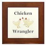 Chicken Wrangler Framed Tile