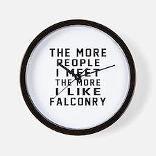 I Like More Falconry Wall Clock