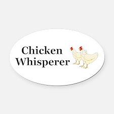 Chicken Whisperer Oval Car Magnet