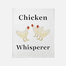 Chicken Whisperer Throw Blanket