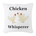 Chicken Whisperer Woven Throw Pillow