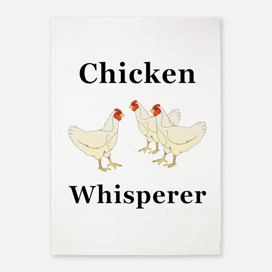 Chicken Whisperer 5'x7'Area Rug