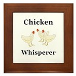 Chicken Whisperer Framed Tile