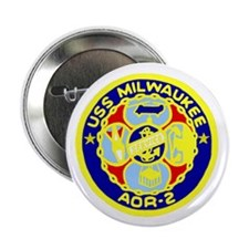 "USS Milwaukee (AOR 2) 2.25"" Button (10 pack)"