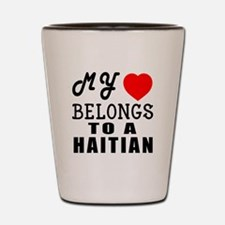 I Love Haitian Shot Glass
