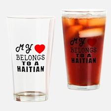 I Love Haitian Drinking Glass