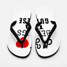 I Love Guyanese Flip Flops