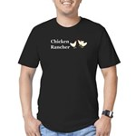Chicken Rancher Men's Fitted T-Shirt (dark)