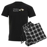 Chicken Rancher Men's Dark Pajamas