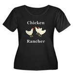 Chicken Women's Plus Size Scoop Neck Dark T-Shirt
