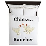 Chicken Rancher Queen Duvet