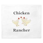 Chicken Rancher King Duvet