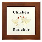 Chicken Rancher Framed Tile