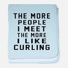 I Like More Curling baby blanket