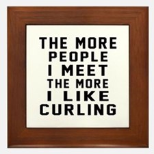I Like More Curling Framed Tile