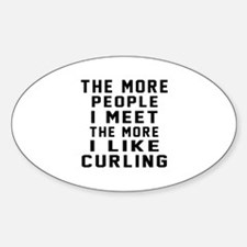 I Like More Curling Decal