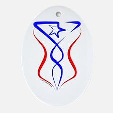 Puerto Rico Tribal Oval Ornament