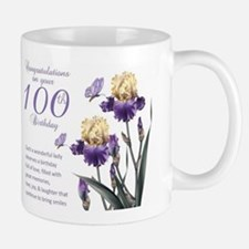 100th Birthday Lily Gift Mug Mugs